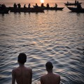Many inhabitans and pilgrims begin a day with morning ablutions in the holy river.