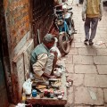 Many try to earn a living by engaging in trade or crafts