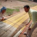 Spinning and weaving are the most important industries