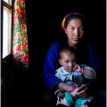 Mother and son, Langtang Valley, Nepal