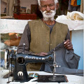 Tailor from the town of Sarnath, India